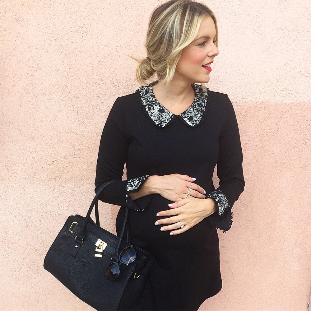 Cute maternity dress to wear with flats ali fedotowsky my sunglasses are 12 you guys know me i love all my 12 sunnies my ring is so cool cause it goes over 3 fingers 3 rings in one ombrellifo Choice Image