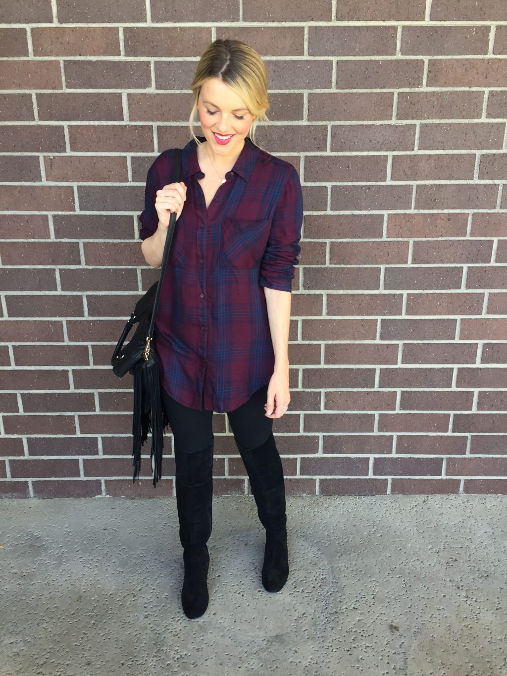 Fall Flannel – Great with Leggings!