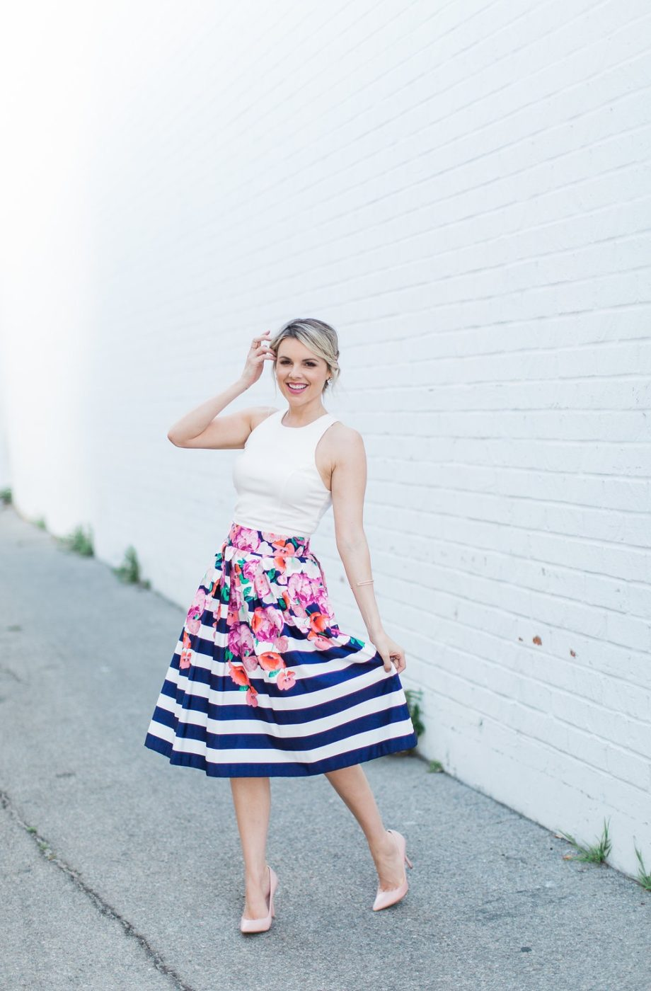 Spring Florals and Stripes