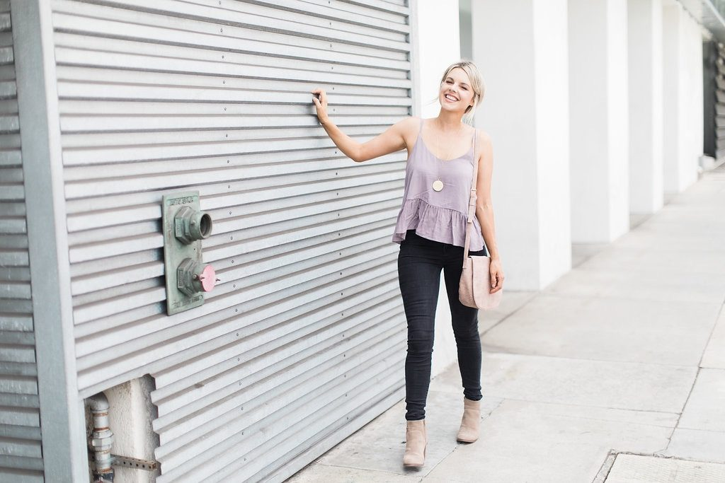 On the Go Peplum Tank