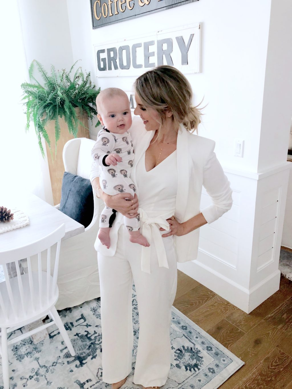 White Hot Jumpsuit for your Holiday Parties (Comes in Red too!)