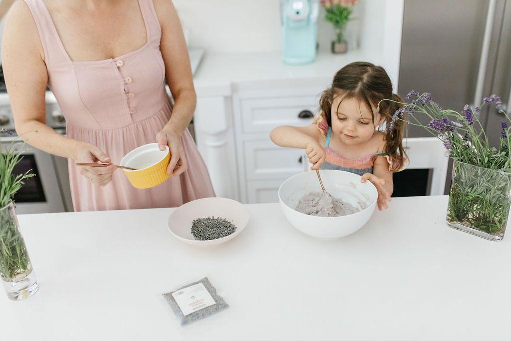 homemade lavender play dough