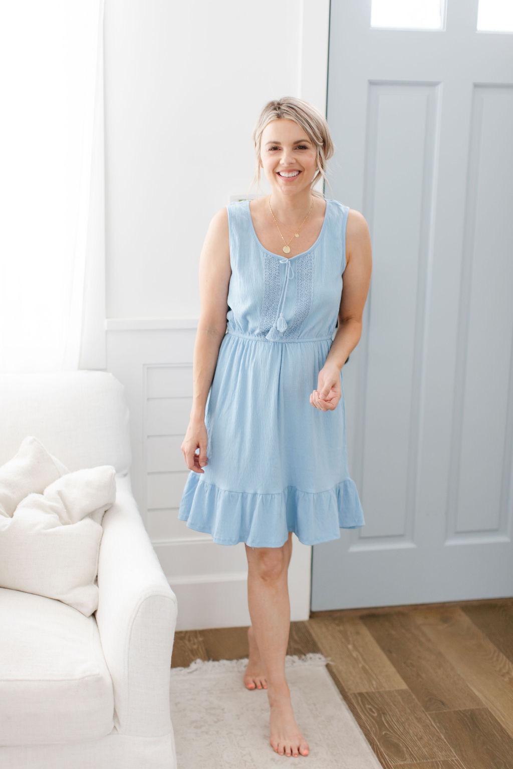 affordable blue dress $11