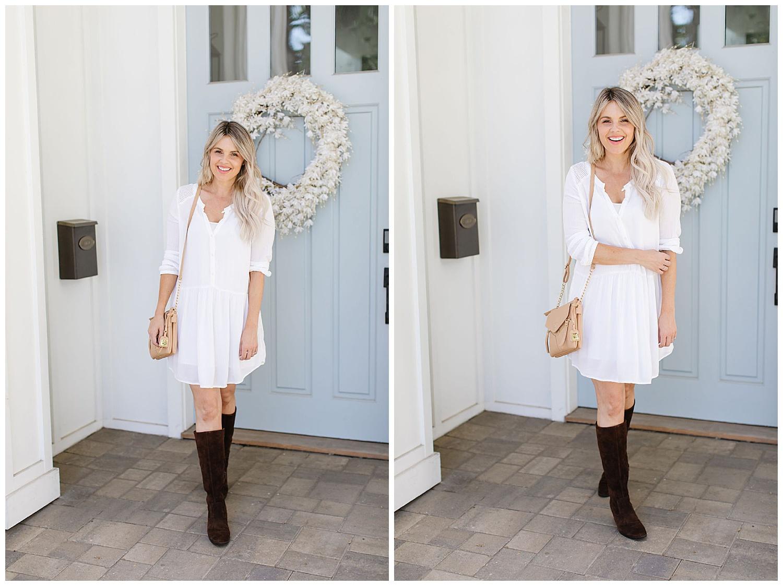 white dress fall boots