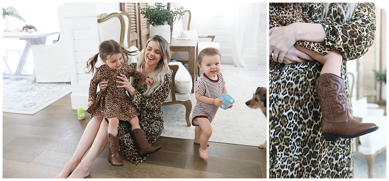 leopard dress for moms and kids