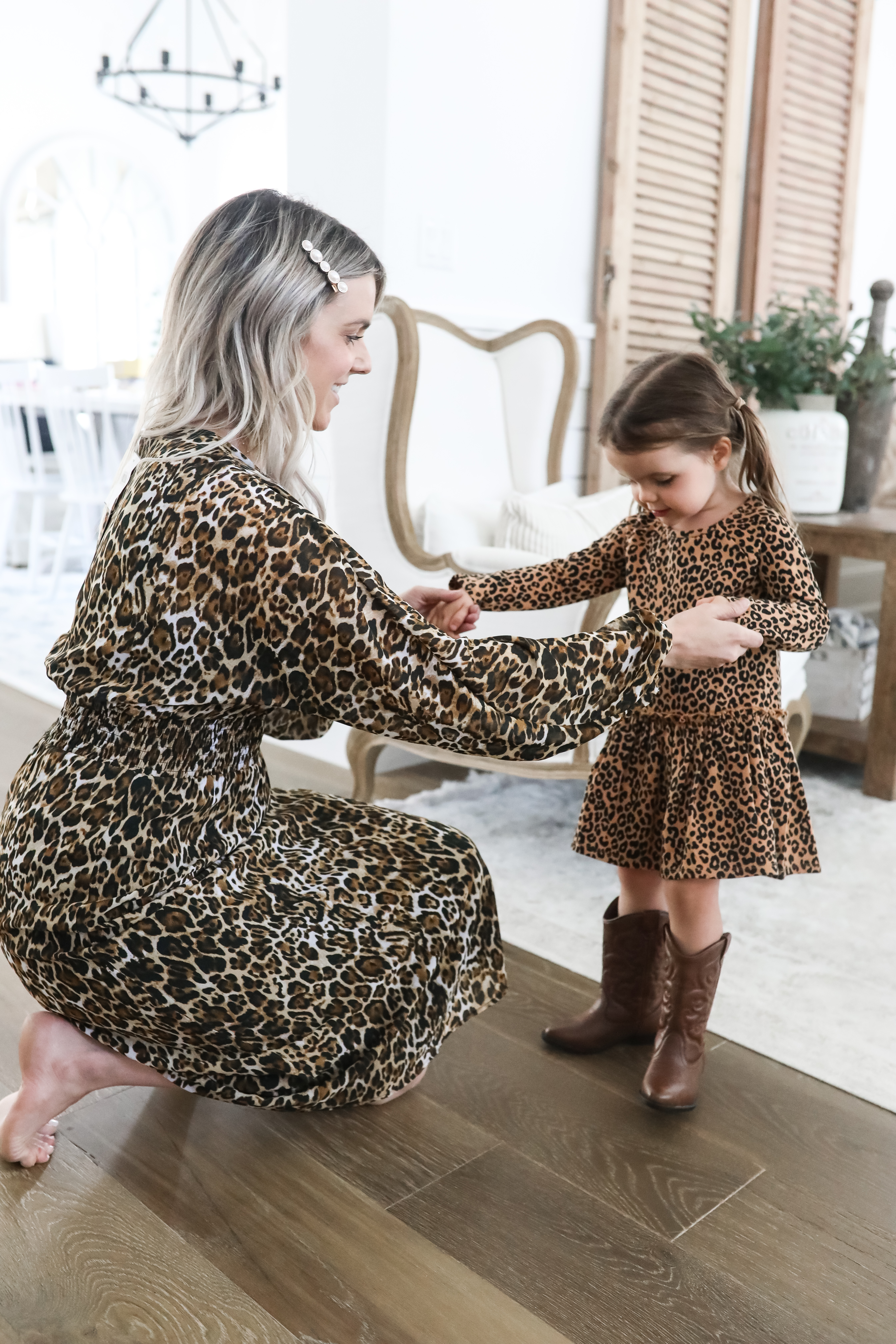 mommy and me leopard dresses finale