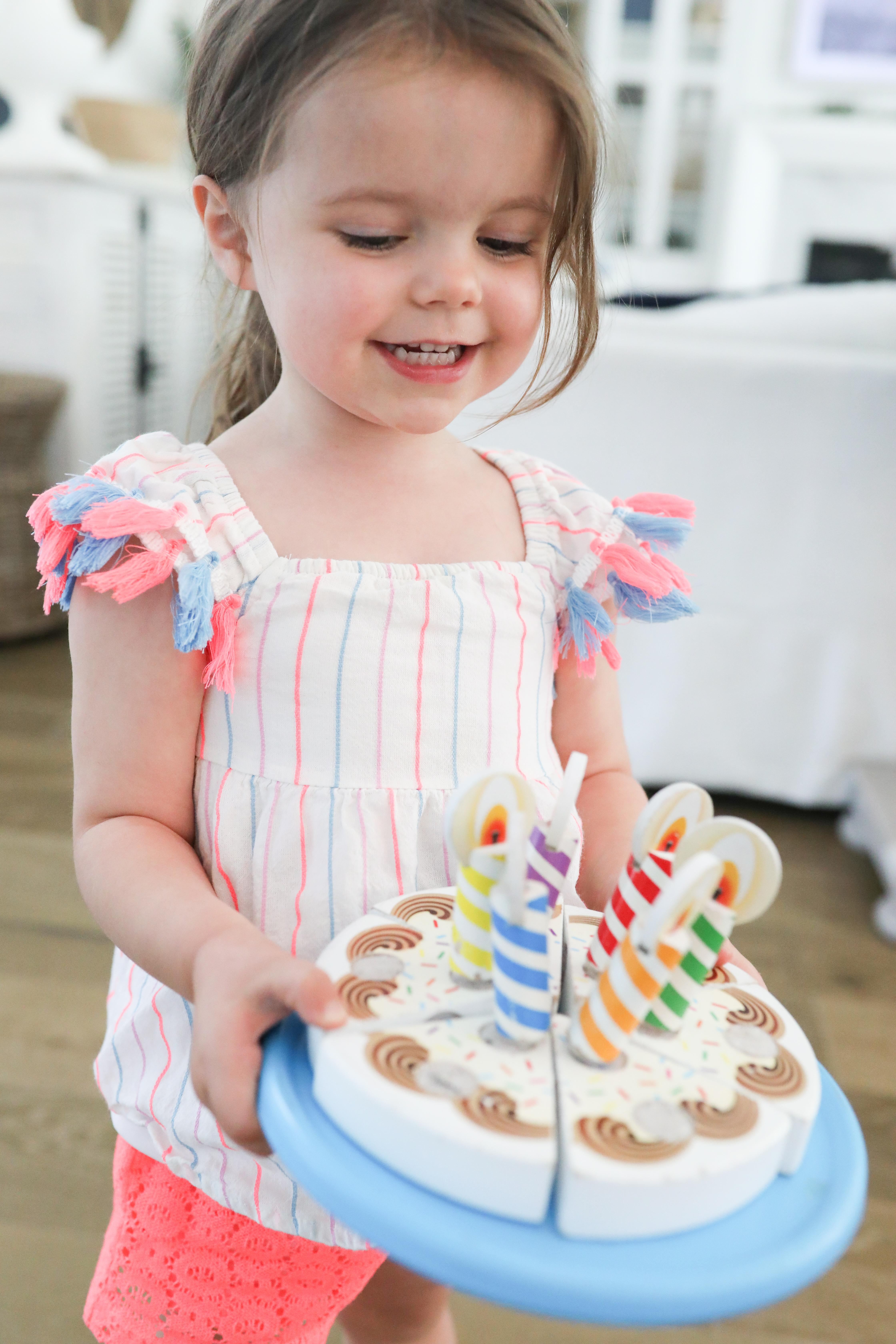wooden birthday cake toy picnic