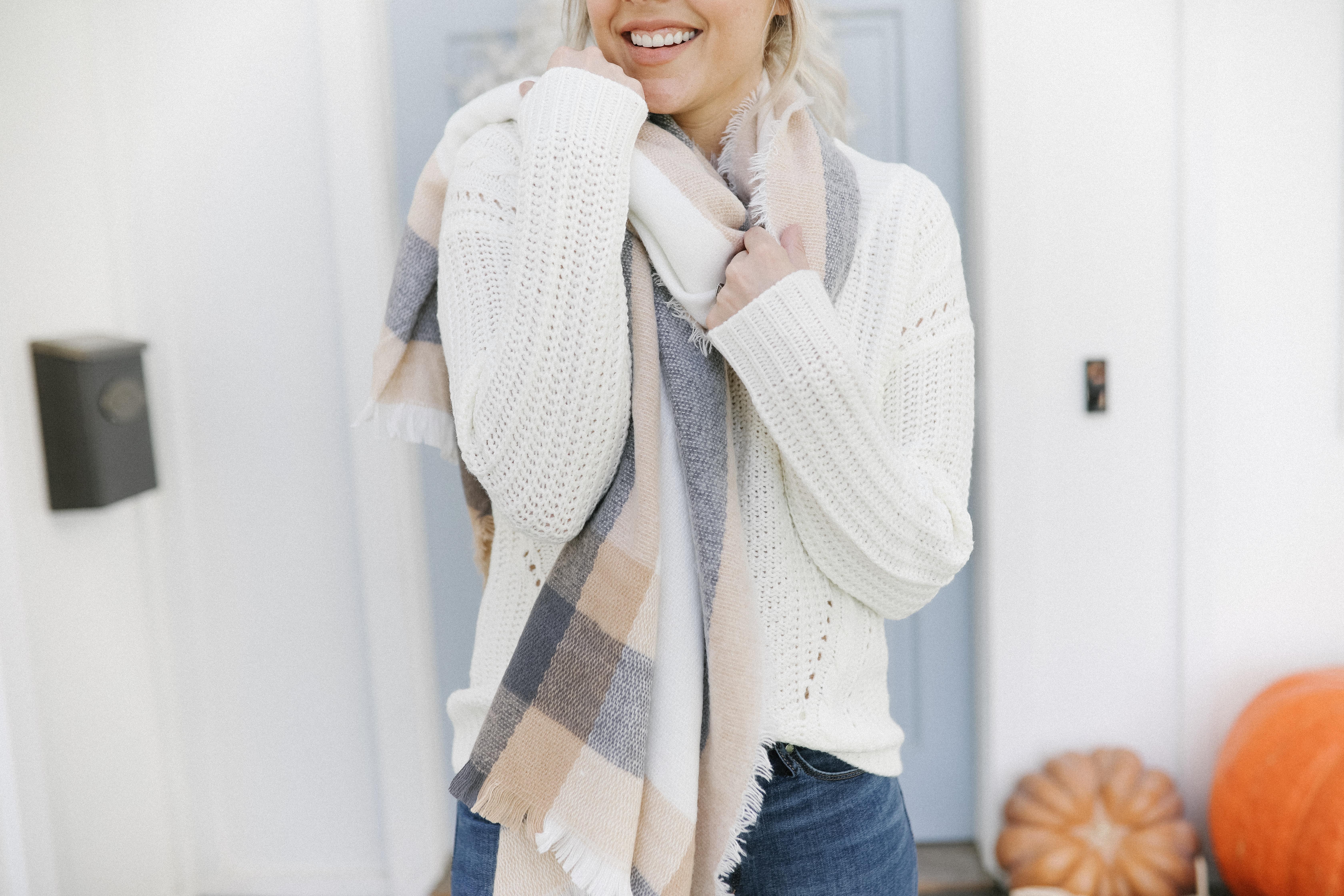 affordable plaid scarf