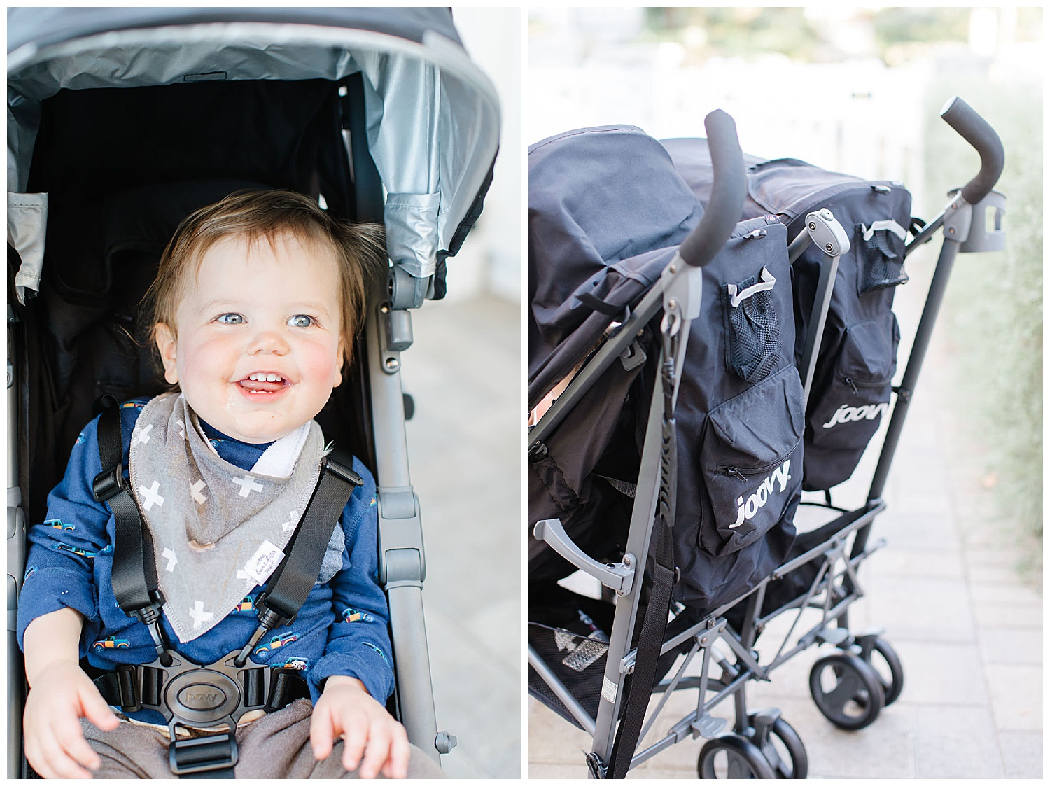 double stroller with zippers