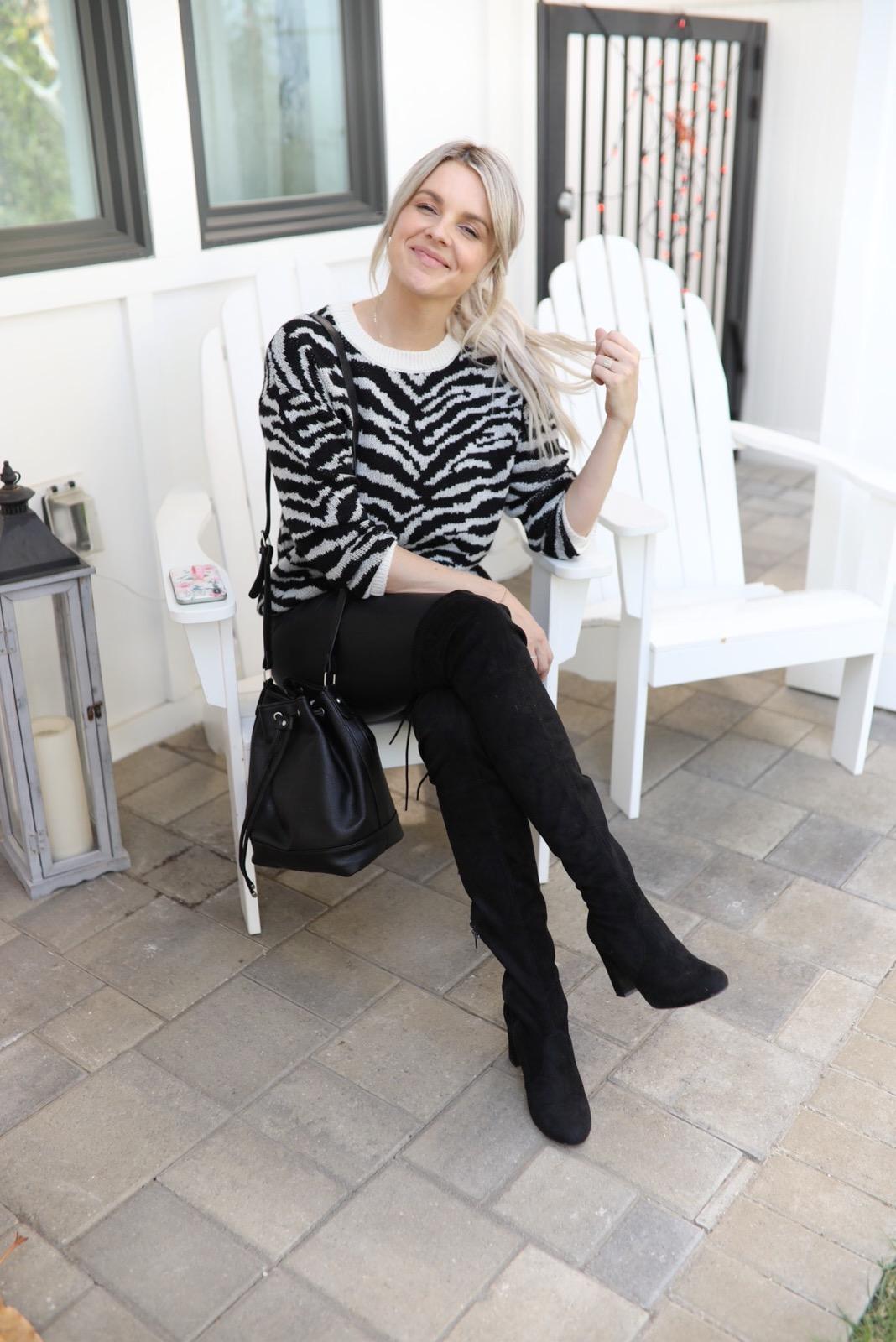 zebra sweater under $17