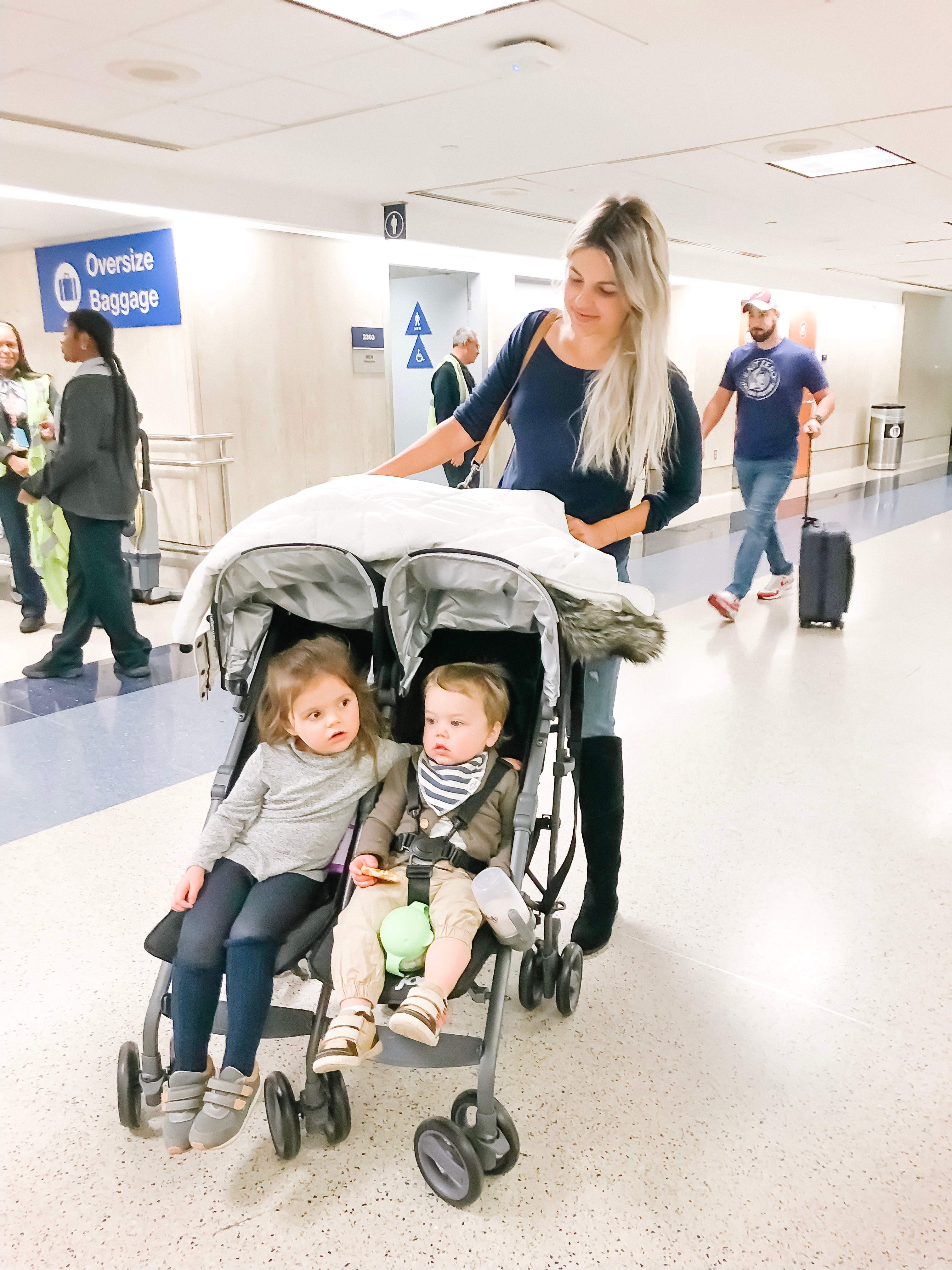 traveling double stroller airport