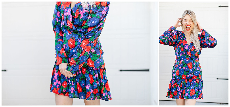 floral wayf colorful dress