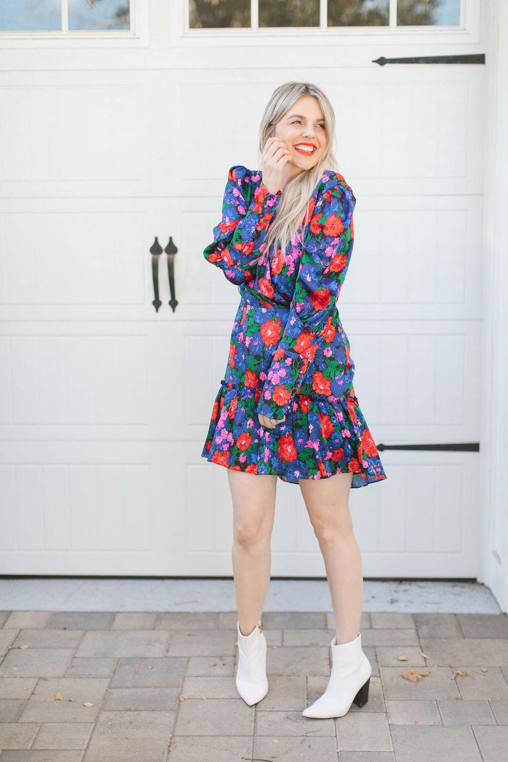 floral wayf dress