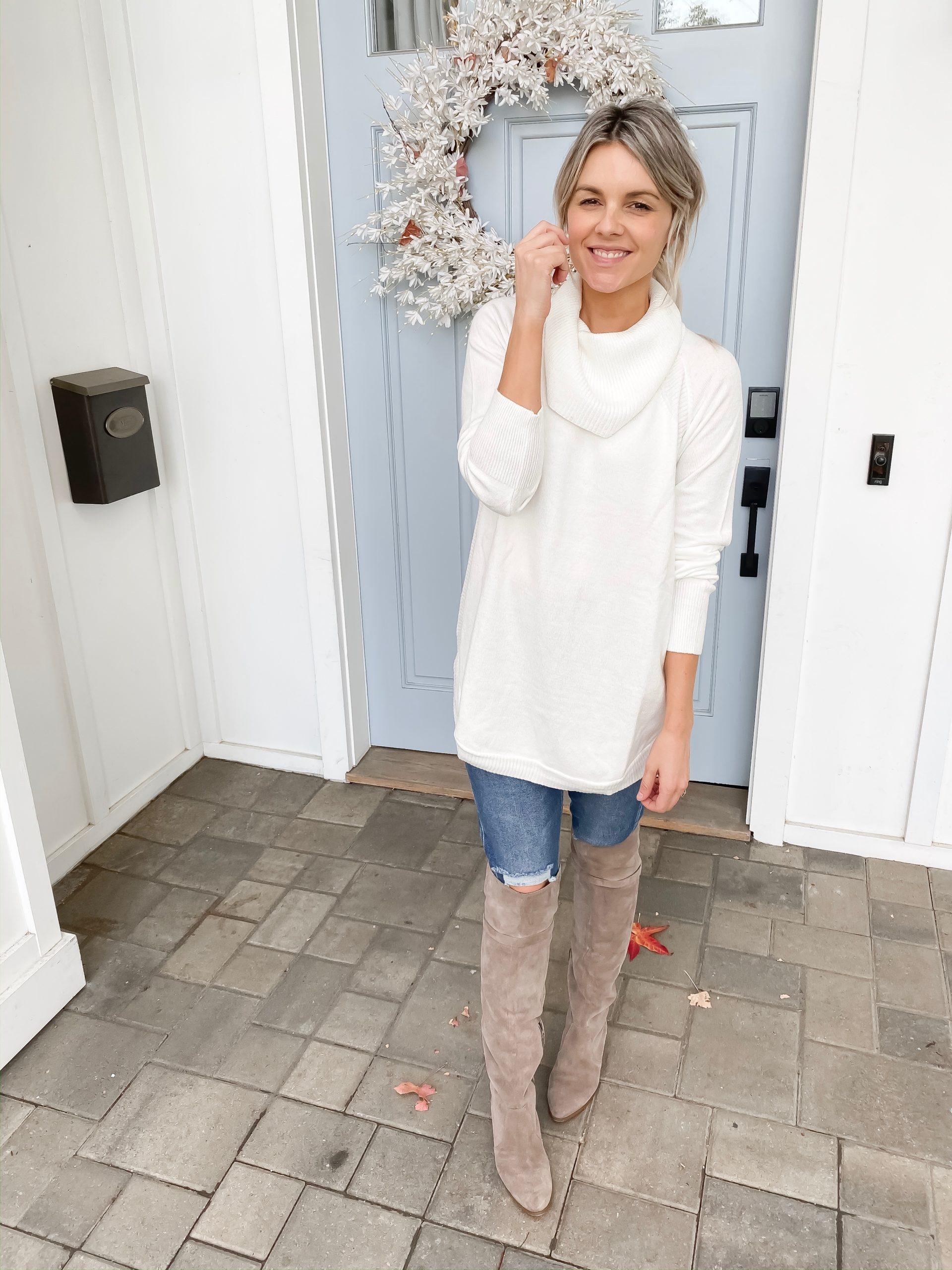 white tunic sweater under $17