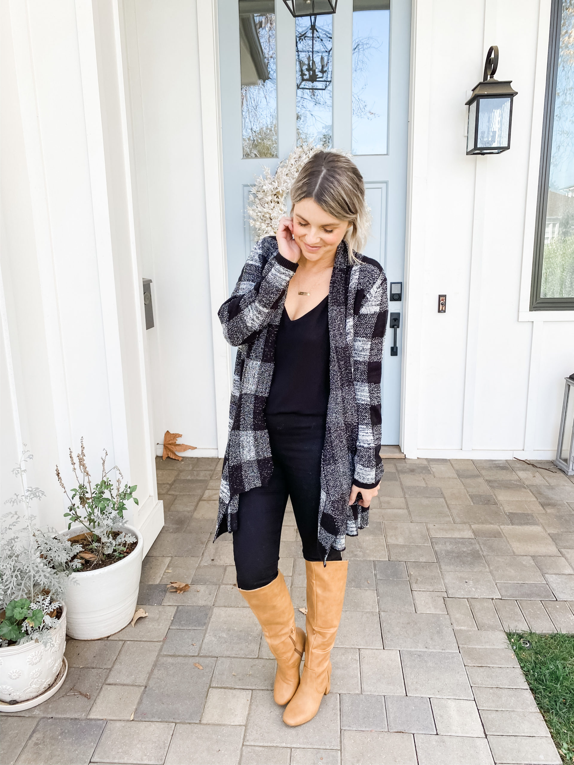 CHECKERED SWEATER 3 sweaters under $25