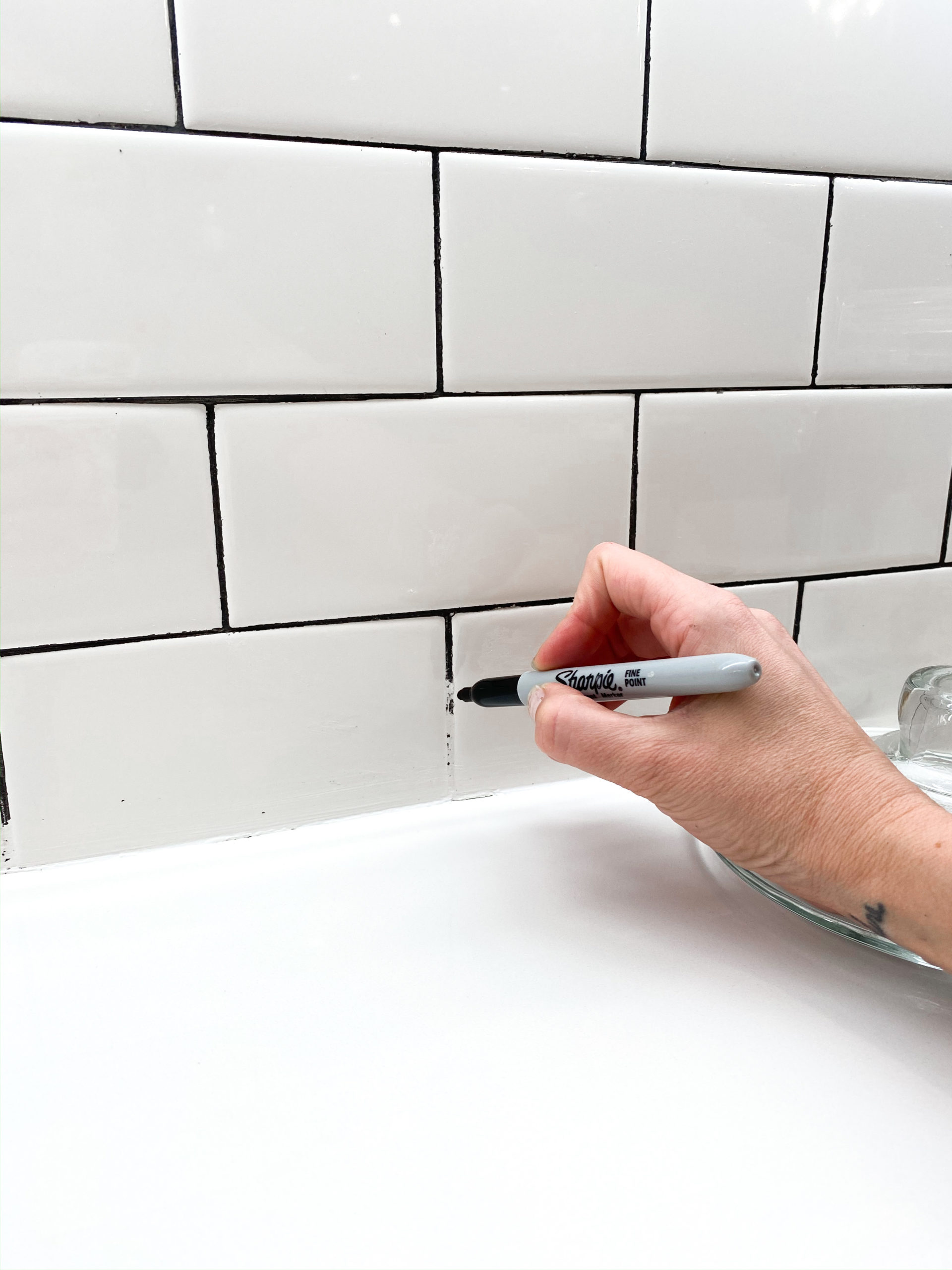 sharpie on grout