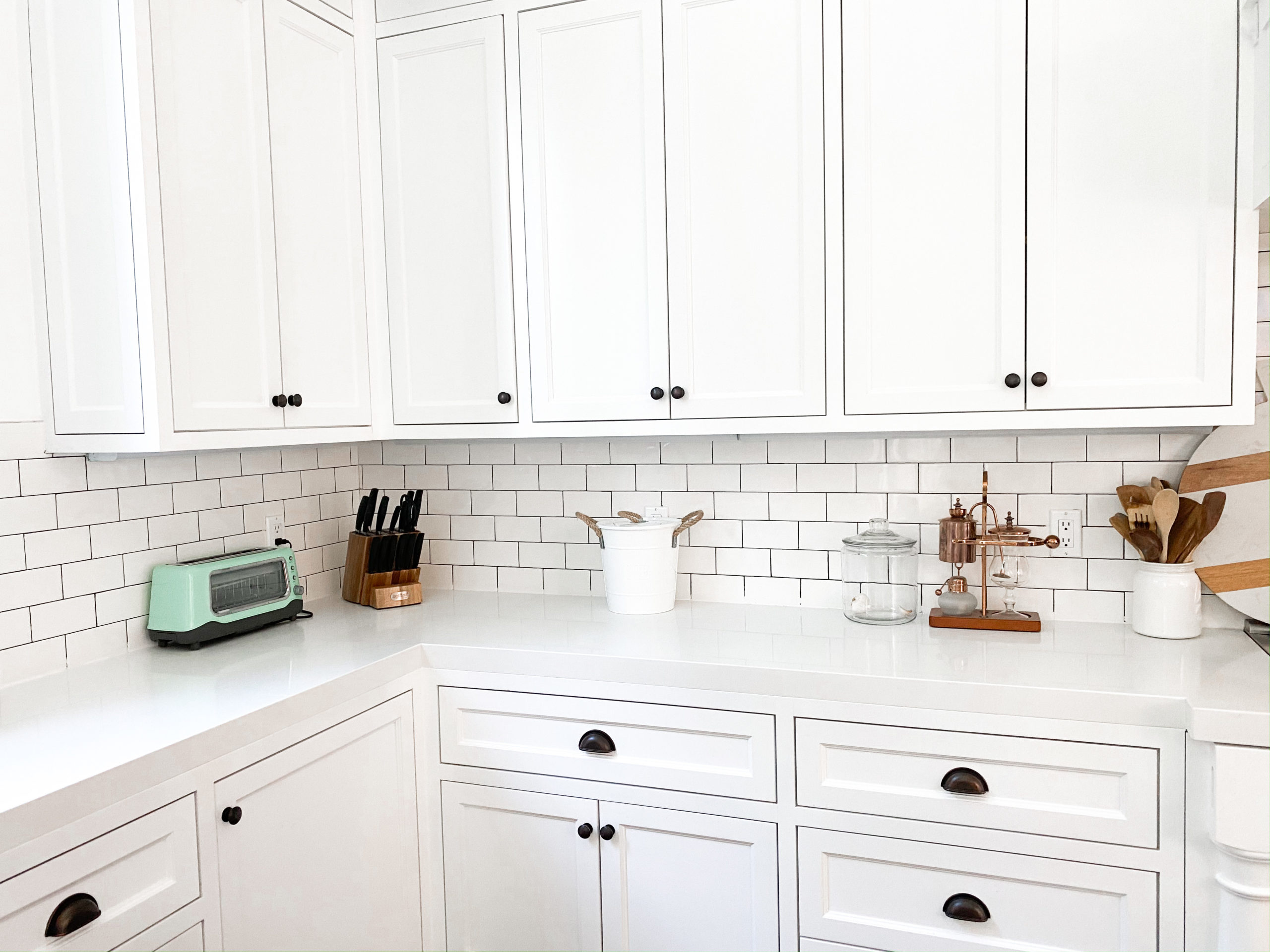 how to do grout stain in kitchen