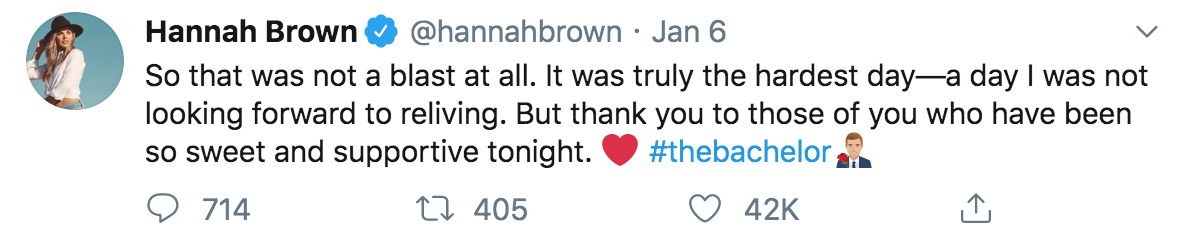 hannah brown tweet