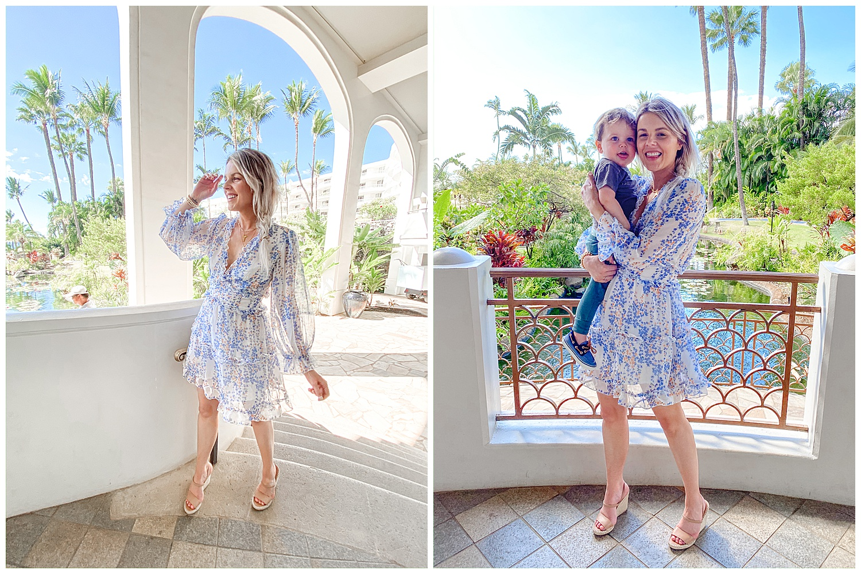 blue and blush dress hawaii