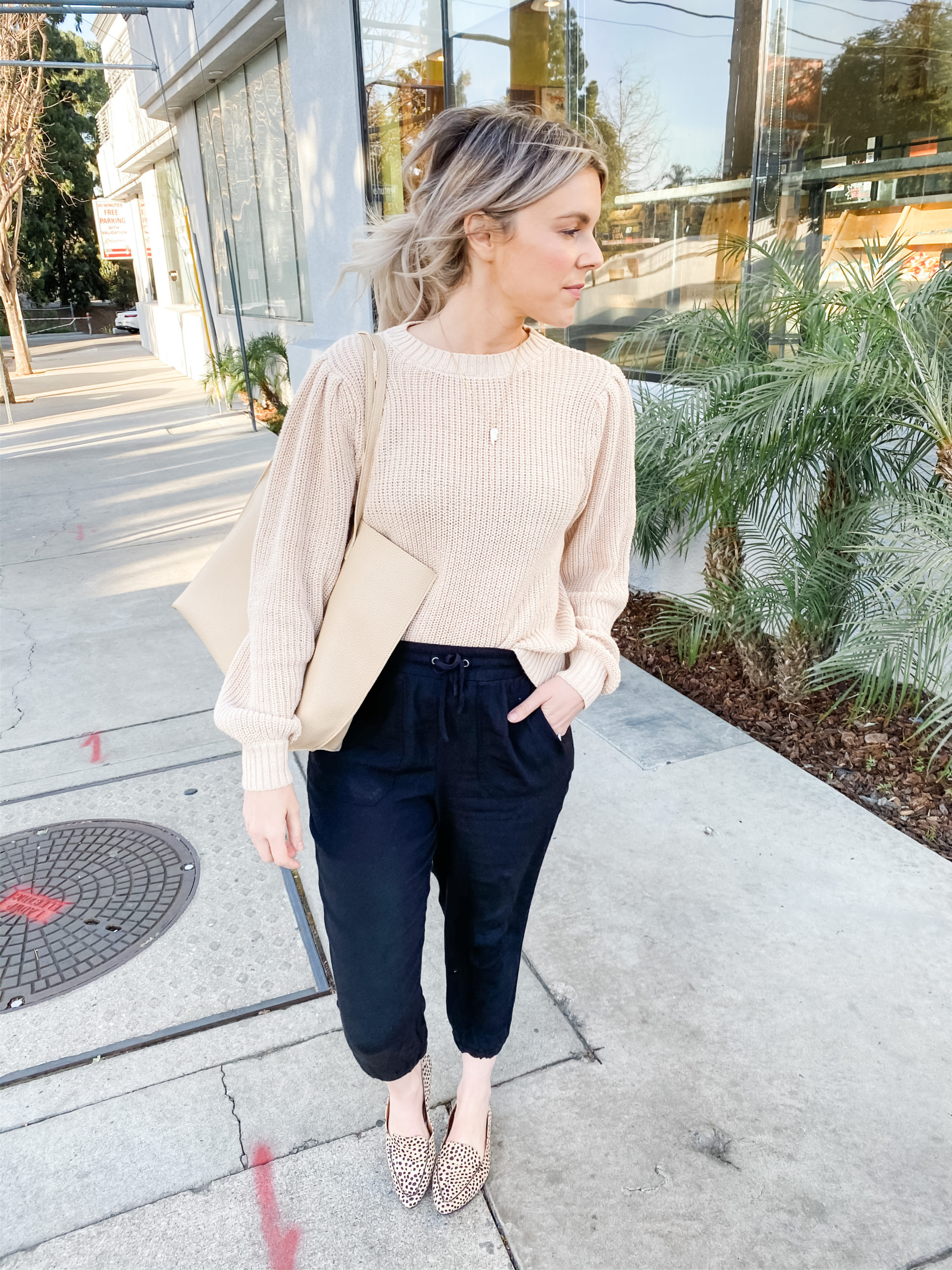 neutral sweater tops