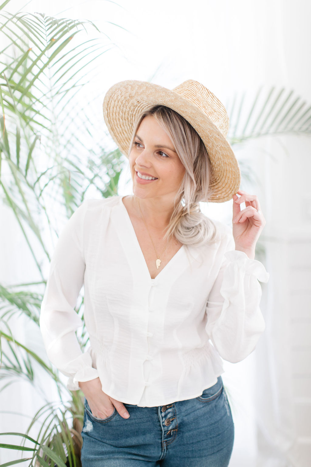 white blouse for vacation