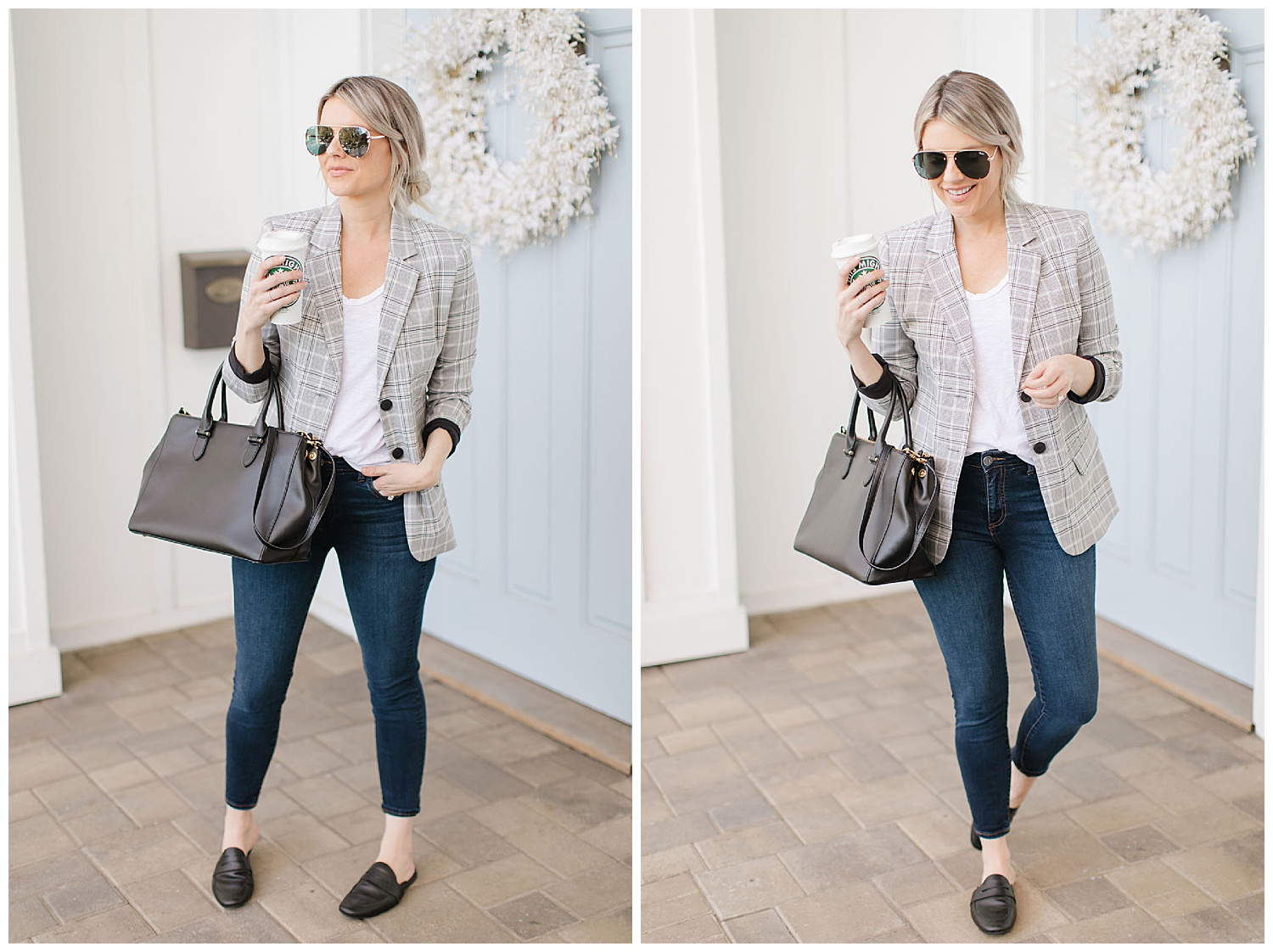 business casual with blazer