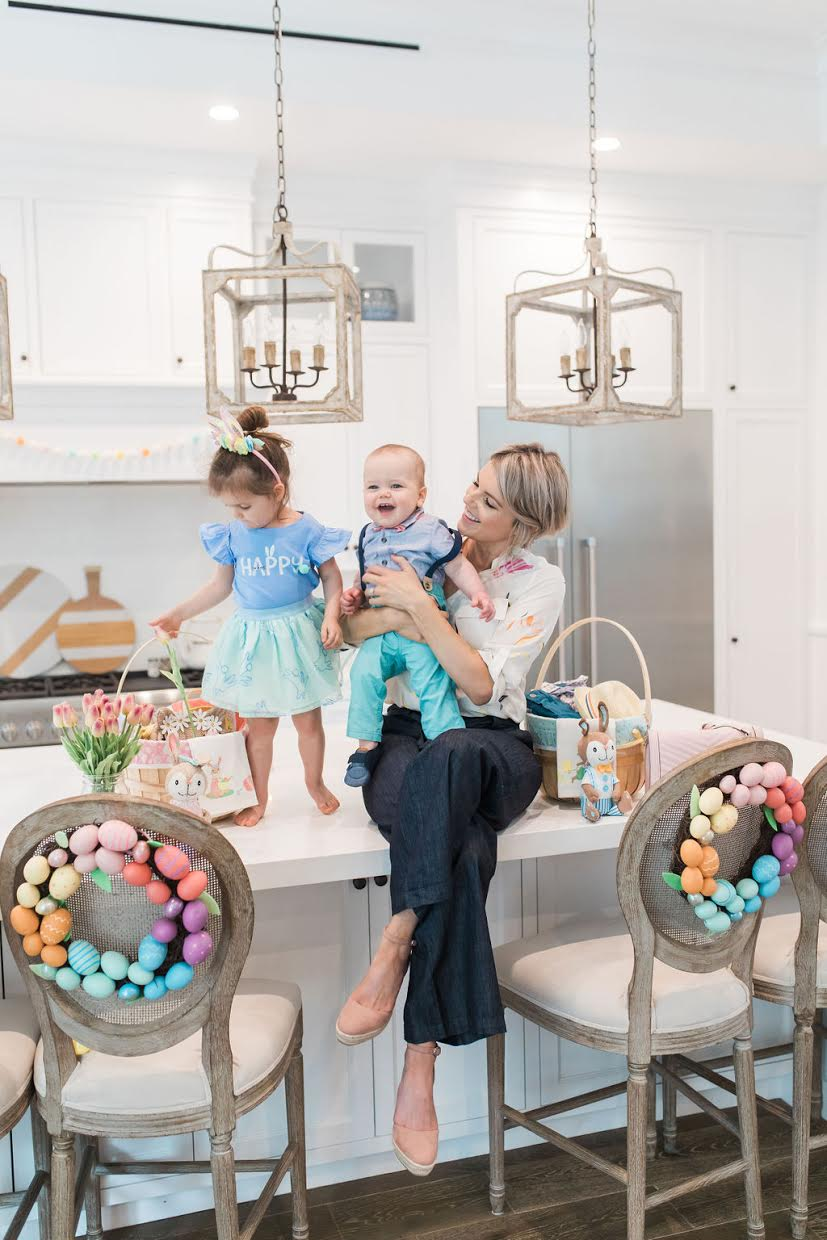 easter outfits and wreaths